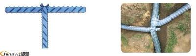 软式透水管的铺设方法及搭接方法